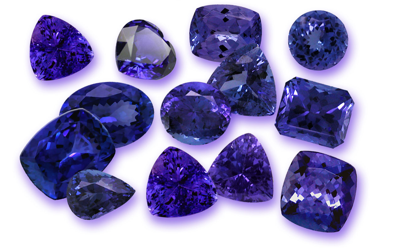 violet carat gemstone egl loose certified itm tanzanite cut cushion