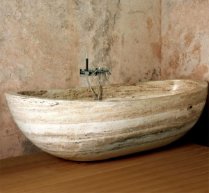 The use of travertine in the interior