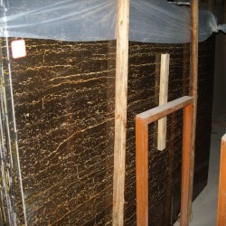 Black and Gold Chinese Marble
