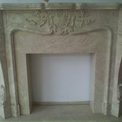 Biege Fireplace